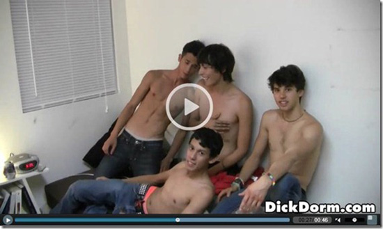 hungry gay twink performs blowjob